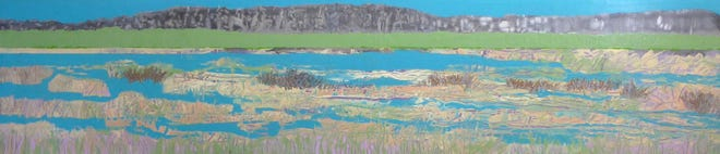 """Linda Van Beck's """"Springtime"""" is an expansive, topographical meadow that brims with deep reflection and untapped possibility."""