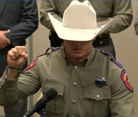 Texas Department of Public Safety Curtis Woodard explains what happened during the March 16 rescue of a baby and mother after smugglers threw them out of a raft on the Rio Grande River.