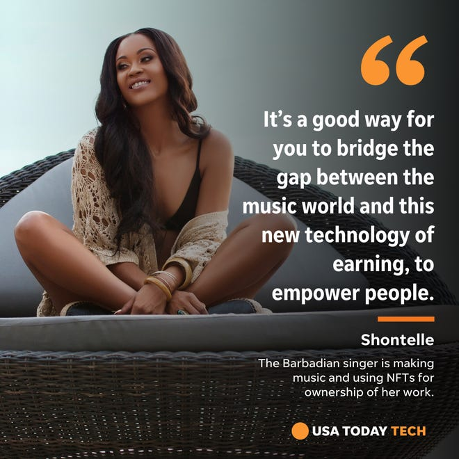 Barbadian singer Shontelle is making music again and using NFTs to establish ownership of her work.