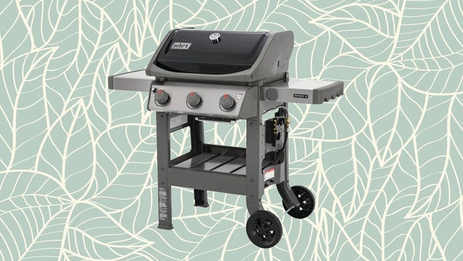 This three-burner propane grill has the space and portability any home chef would want