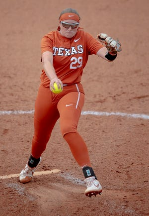 Shea O'Leary, seen in previous action, struck out 11 batters in UT's 2-1 victory over Texas Tech on Saturday.