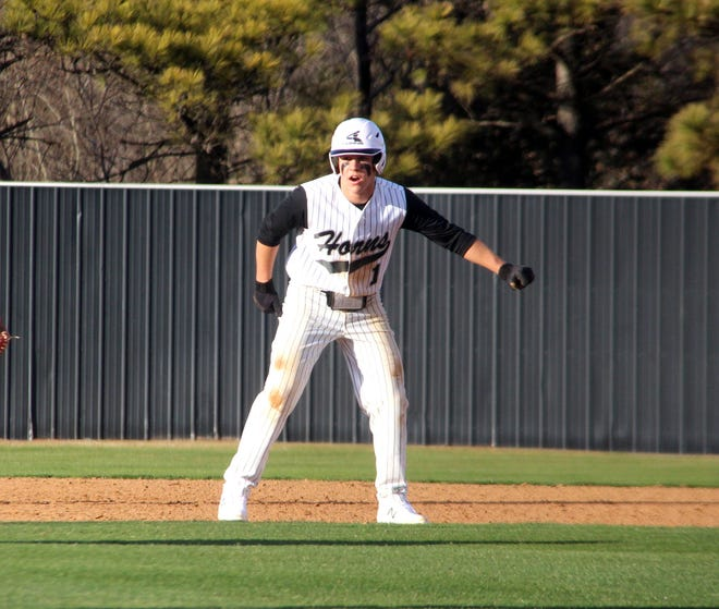 Lone Grove's Nate Sudderth connected on a two-run double on Friday in a 12-1 victory over Marietta.