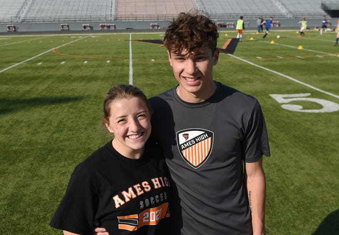 Ames  seniors Sophie Wilson and Jordan Corrieri want to lead the Little Cyclone girls' and boys' soccer programs to state for the first time since 2017 this spring.