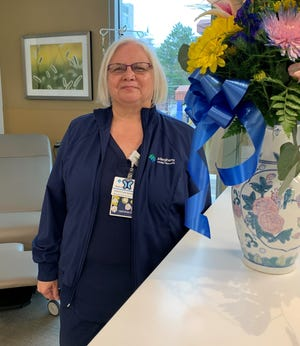 Robin Meyer, R.N.C., Infusion nurse at AHN Cancer Institute at Saint Vincent, earned the DAISY Award in February. The award was established to celebrate the extraordinary compassion nurses provide their patients and families.