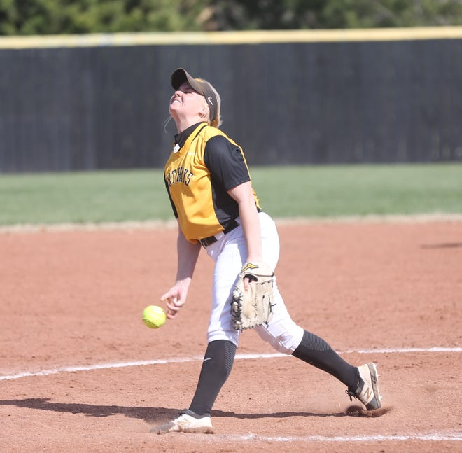 FHSU's Michaelanne Nelson releases a pitch earlier this season against Pittsburg State. [File photo/HDN]