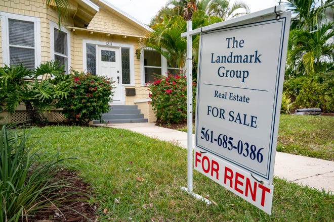 A home for sale at 1211 Florida Avenue in West Palm Beach, Florida on April 3, 2021.