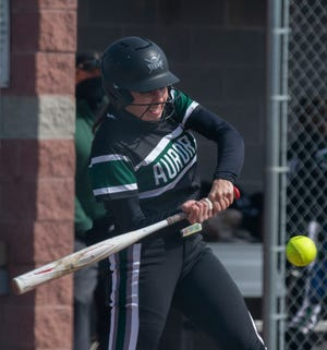 Mackenzie Krafcik, pictured earlier this year against Boardman, went 3-for-3 with a homer, three runs scored and four RBI Tuesday against Tallmadge.