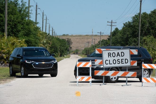 Roads leading to the former Piney Point phosphate plant were closed by Manatee County officials as local residents were urged to evacuate Sunday. A leak in one of the wastewater ponds brought fears of potentially catastrophic flooding of polluted industrial wastewater into nearby homes and businesses.