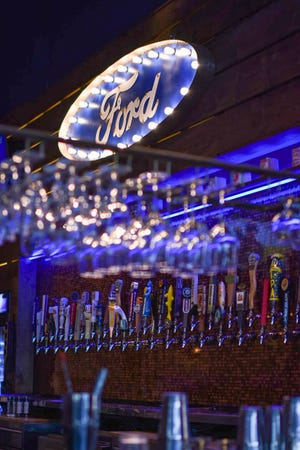 Ford's Garage in St. Augustine, Florida serves 150 different kinds of beer. The Bozard Ford Lincoln dealer calls it an F-150 beer list.