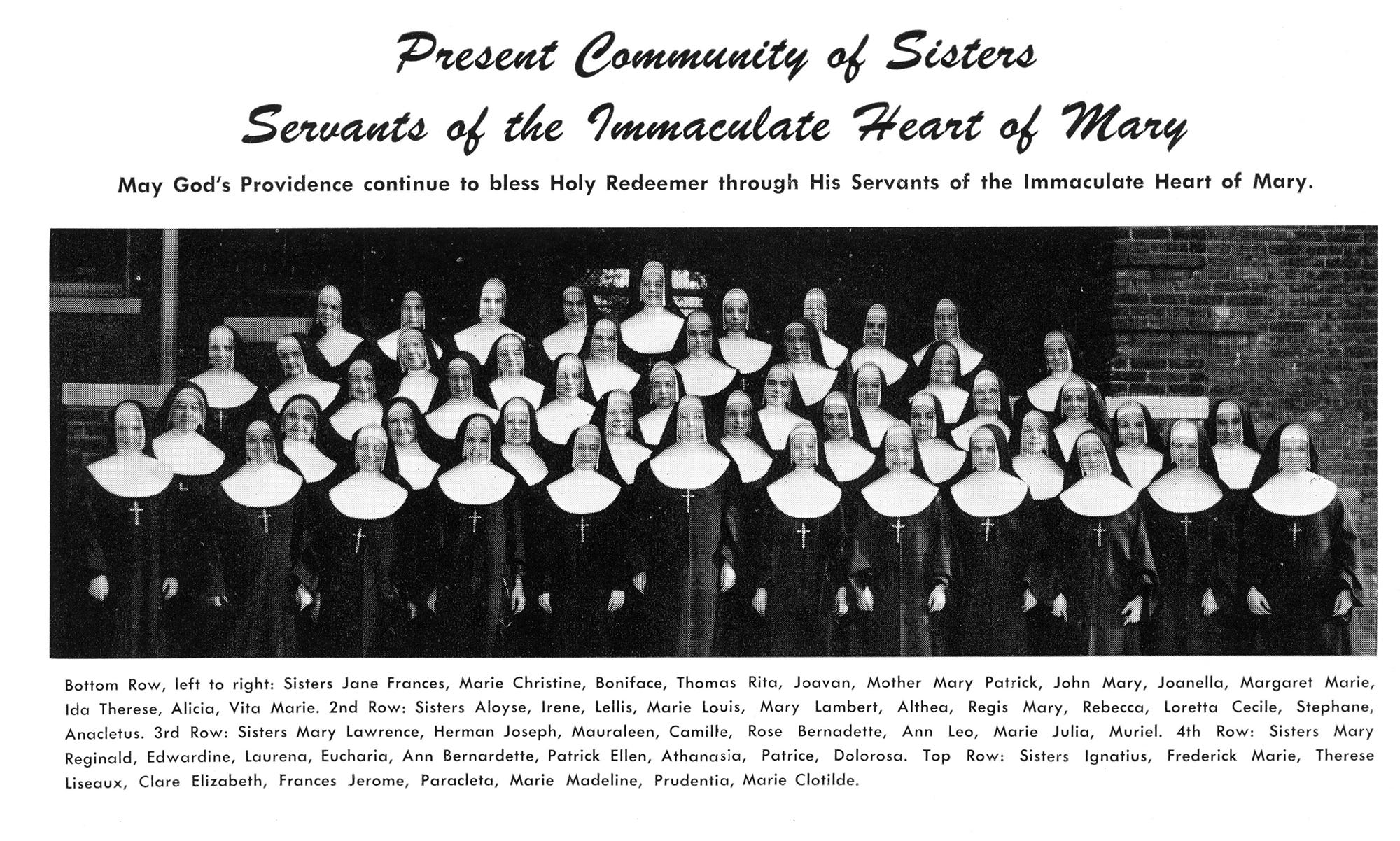 There are 26 Catholic sisters who are now working in Catholic schools across the six-county Archdiocese of Detroit, which has 86 Catholic schools. There were twice that number of sisters working in the 1960s at the elementary and high schools of just one parish, Holy Redeemer in southwest Detroit, pictured here.  In the early 1960s, there were 5,921 sisters doing ministry in the archdiocese, including working in hospitals and  schools.