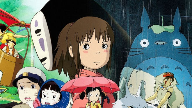 Some of Studio Ghibli's most recognizable characters include Chihiro, No-Face and Totoro.