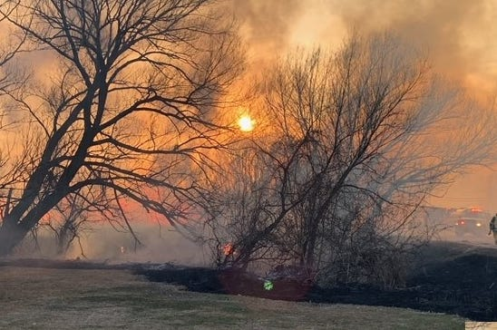 An afternoon wildfire in a rural area in Menomonee Falls led to a series of brush fires stretching from west of Pilgrim Road to Lannon Road on Friday, April 2.