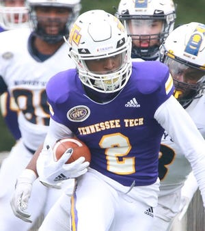 Wide receiver Quinton Cross had five catches for 35 yards and two carries for 32 yards in Tennessee Tech's 24-10 win Saturday over Tennessee State.