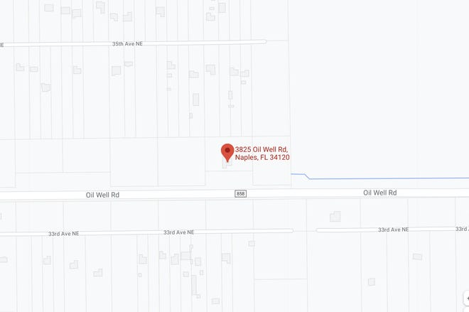 Area of fatal ATV crash on Friday, April 2, 2021, in Collier County.