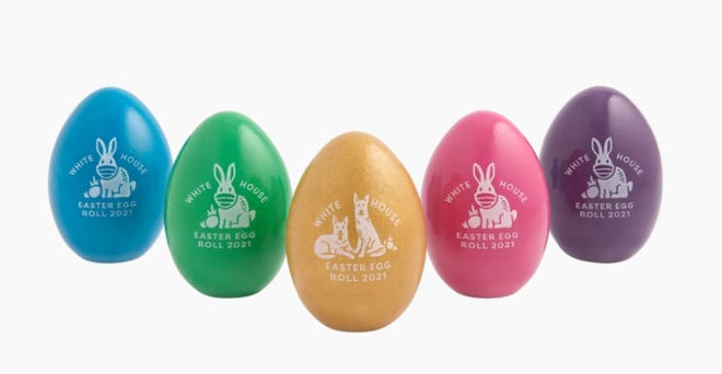 Riverside University Health System will hand out these Easter eggs from the White House to those who get vaccinated on Saturday.