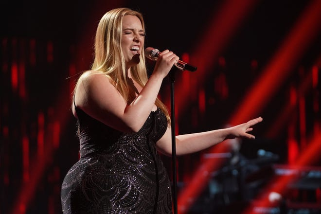 """Closing out the show was 20-year-old college student Grace Kinstler, who worked the stage during her solo performance of """"Queen"""" by Jessie J."""
