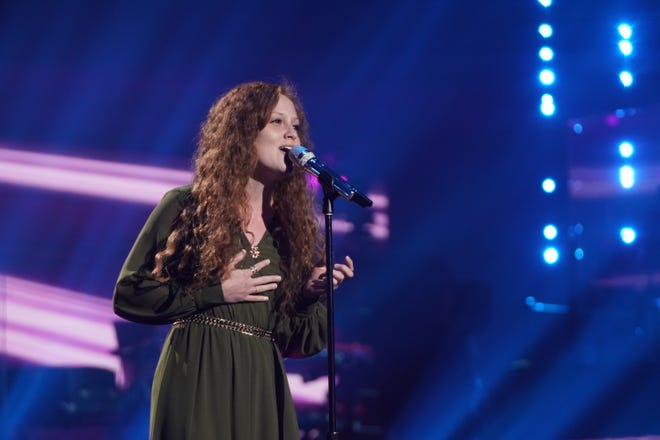"""Coffee shop manager Cassandra Coleman, 24,crooned out a haunting version of """"Find Me"""" by Sigma for her solo performance."""