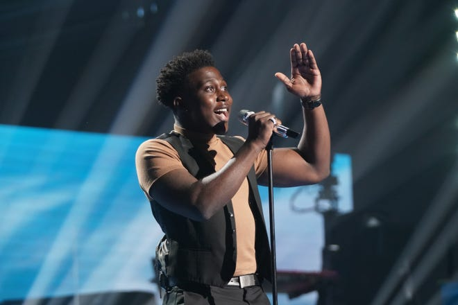 """Deshawn Goncalves, 20, sang """"Forever Young"""" by Bob Dylan, before launching into a duet of One Republic's """"I Lived"""" with Ryan Tedder."""