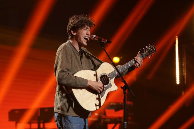 """Wyatt Pike, 20, turned up his soulful charm while singing""""rubberband"""" by Tate McRae."""