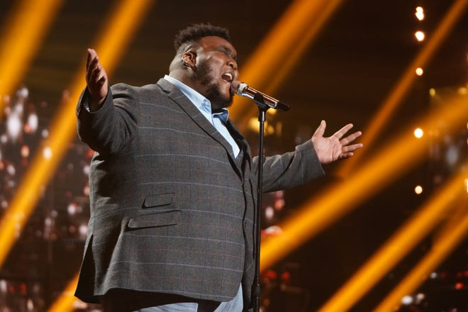 """Willie Spence brought the house down with his solo performance of Bette Midler's """"Wind Beneath My Wings."""""""