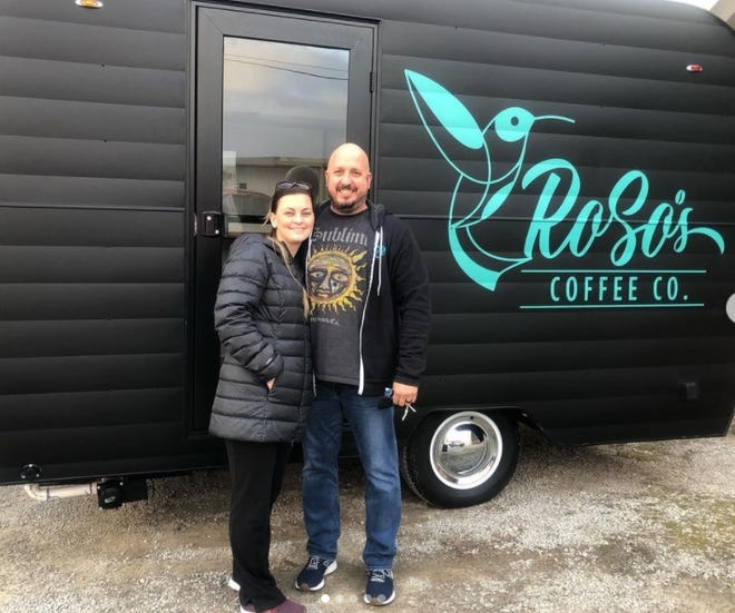 Wife and husband team Rachel and Steven Ostberg opened their coffee cart, RoSo's Coffee, in early March.