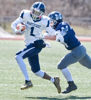 Justin Bloise and the Nantucket football team host Sandwich in Cape & Islands League Lighthouse action on Saturday.