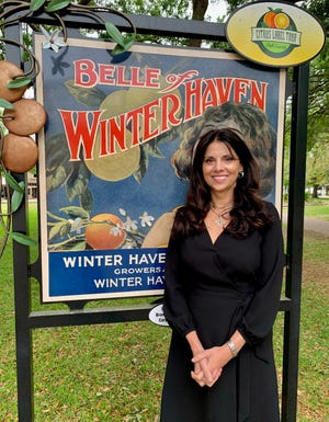 Anita Strang, 56, is Winter Haven Main Street's executive director and the Derry Down's unofficial historian.