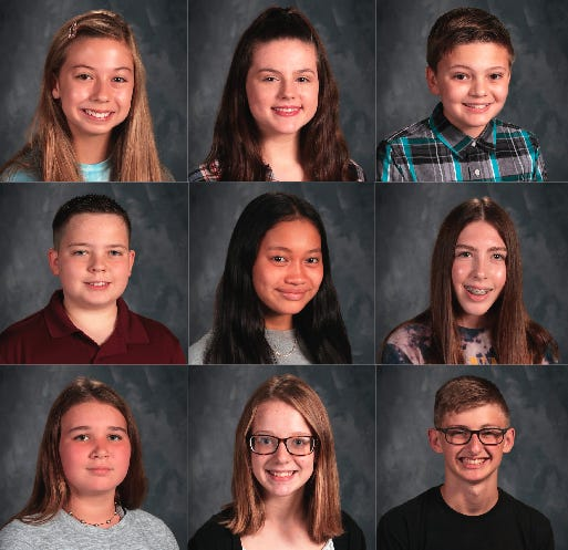 Left to right, top to bottom: Grace Law, Keegan Dowdney, Keith Base, Gavyn Quade, K.C. Brown, Delaney Stanfield, Nicole Westhusing, Jazzie Coffelt, Hunter Johnson.