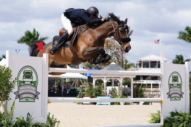 Adam Prudent won the $214,000 Wellington Agricultural Services Grand Prix Saturday in the Winter Equestrian Festival season-ender at Palm Beach International Equestrian Center.