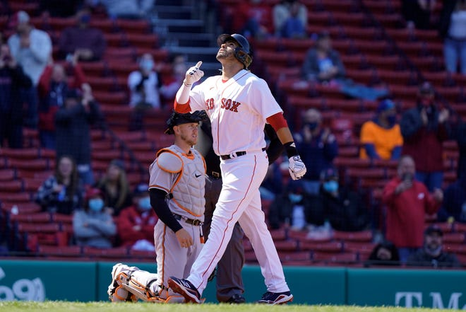 J.D. Martinez provided the lone home run of the weekend series between the Red Sox and the Orioles.