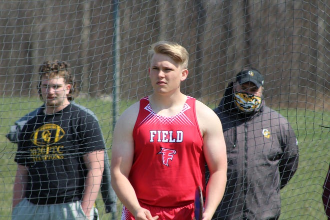 Field senior Grant Weise captured Newton Falls Tiger Invitational titles in the discus and shot put.
