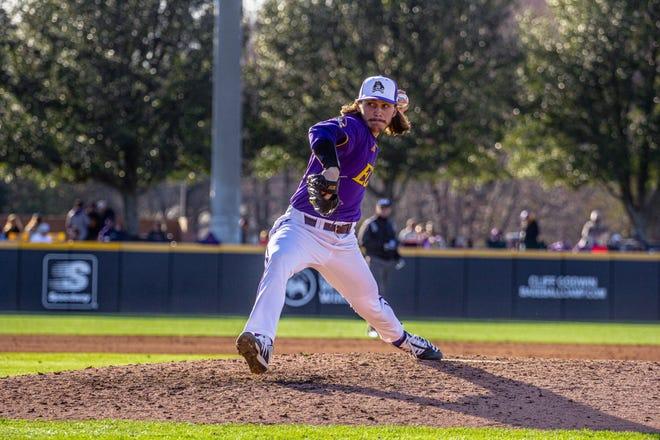 East Carolina pitcher C.J. Mayhue. (File photo courtesy of ECU athletics)