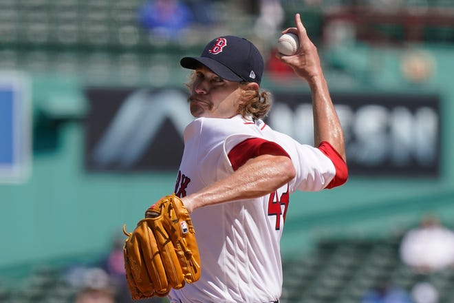 Boston Red Sox starter Garrett Richards (0-1) was chased with no outs and after loading the bases in the third. He was charged with six runs and seven hits.