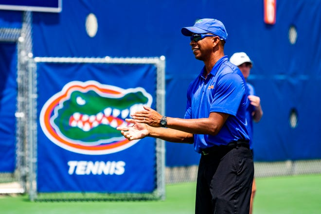 Florida coach Bryan Shelton leads the Gators to another SEC title Sunday.