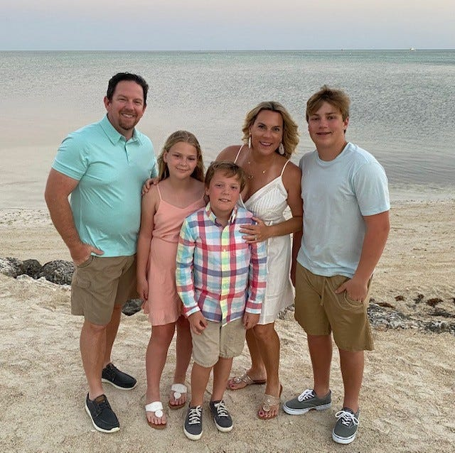 The Strout Family likes eating at Ford's Garage at the Bozard Ford Lincoln dealership in St. Augustine. Pictured, left to right, are Stephen, Makenzie, Justin, Meridith and Brandon Strout in Islamorada, Florida Keys in March 2021.