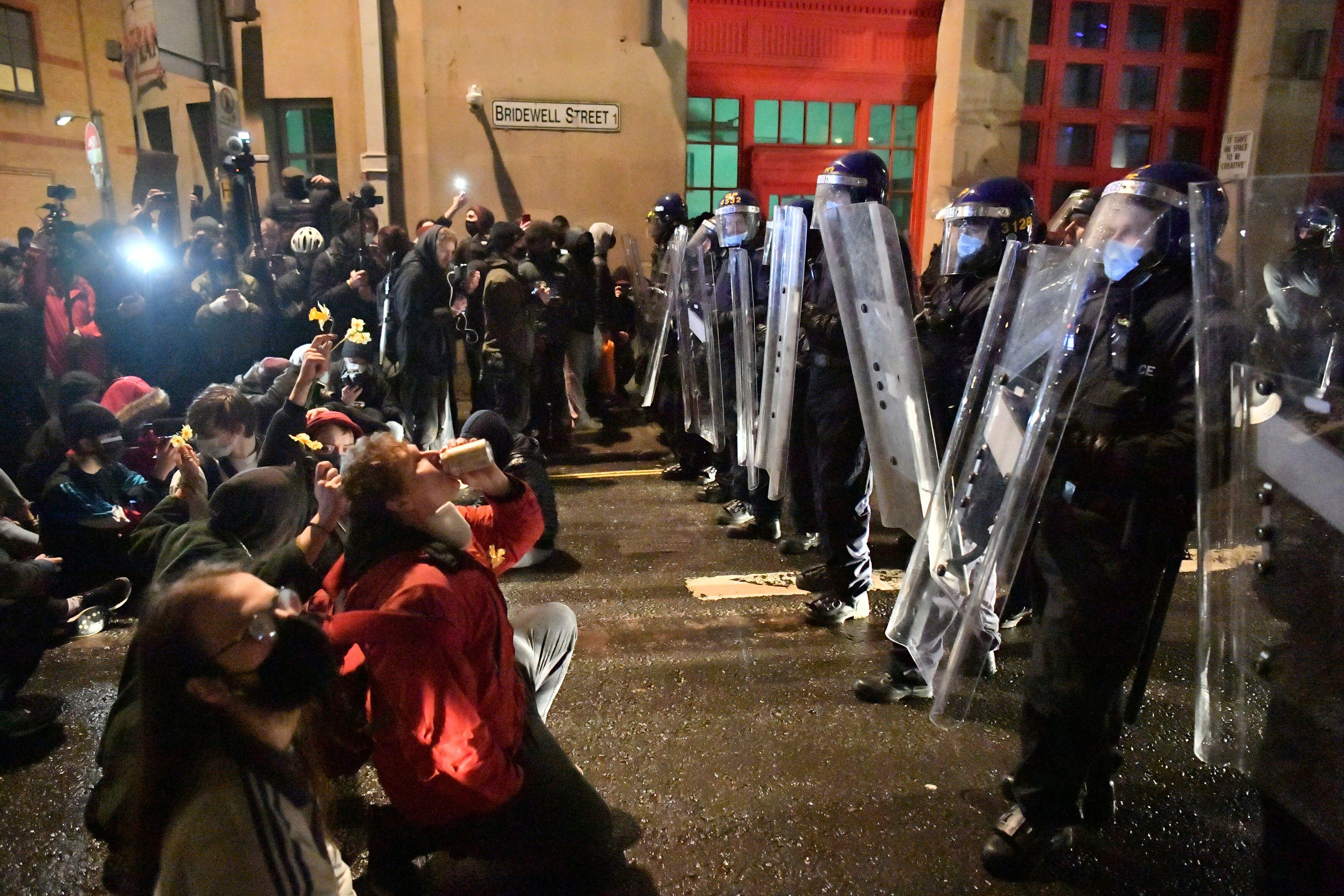 Hundreds rally in England and Wales over police legislation 2