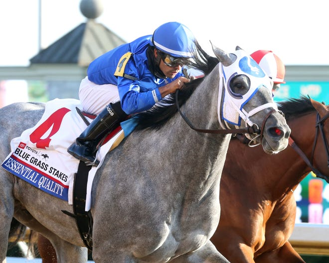 """Essential Quality was """"battle tested"""" during Saturday's win at Keeneland."""