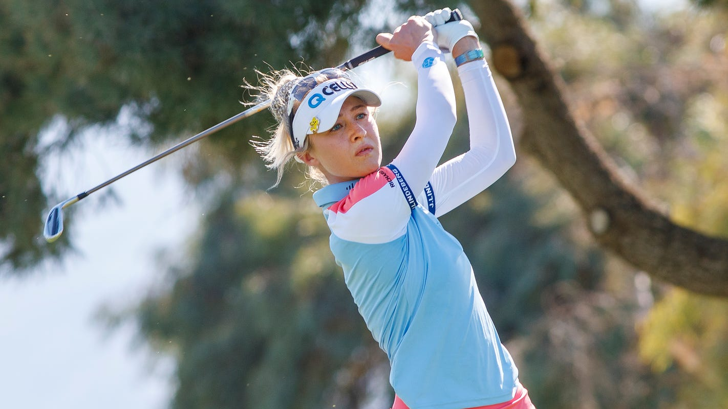 Nelly Korda wins Meijer LPGA Classic in Grand Rapids, celebrates with Andreas Athanasiou