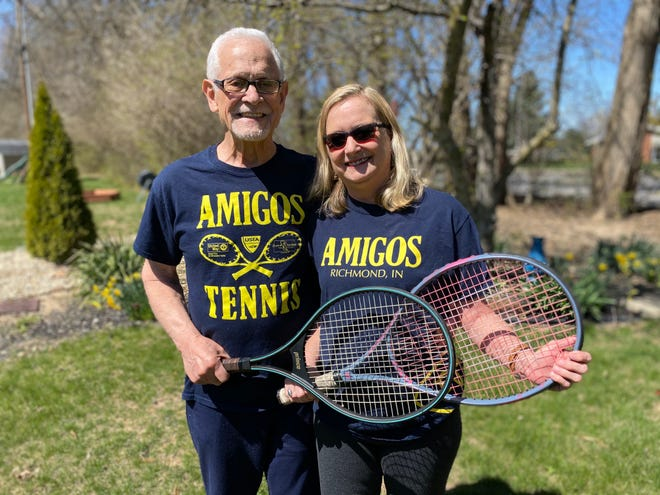 Howard (left) and Patty Lamson started the Amigos Youth Tennis group in 2014 with the goal of giving minority Richmond community members a free opportunity to play tennis and be active.