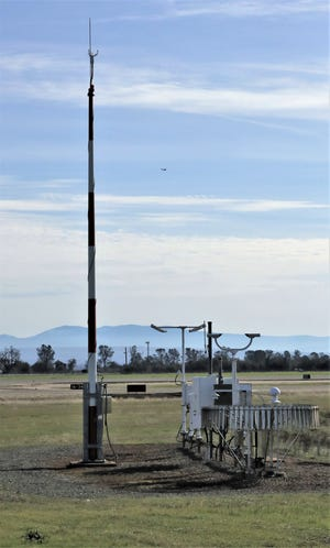 The National Weather Service's official Redding weather station at the Redding Municipal Airport on Jan. 31, 2020.