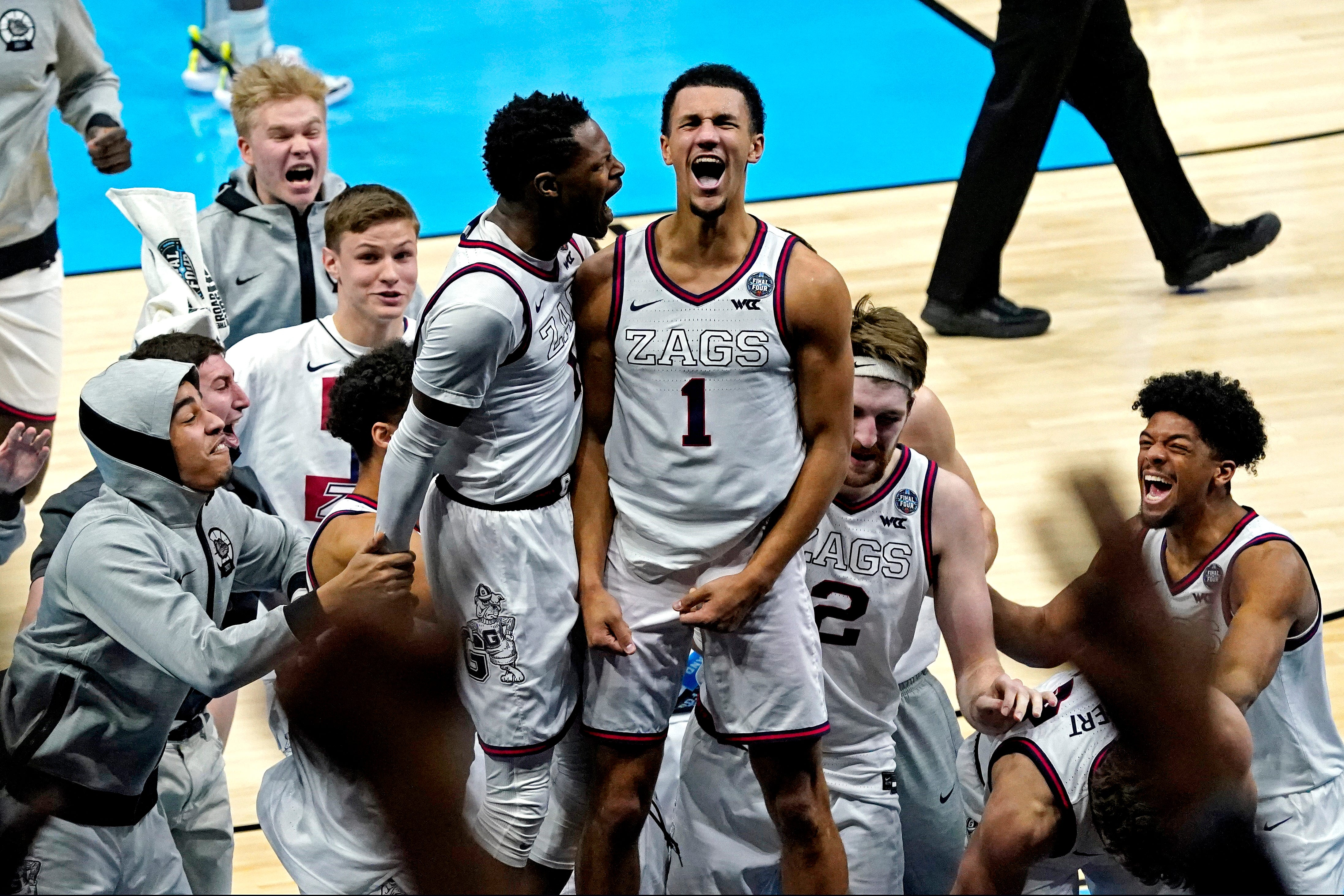 Final Four: Gonzaga survives UCLA's upset bid in overtime thriller to stay perfect, reach men's national title game