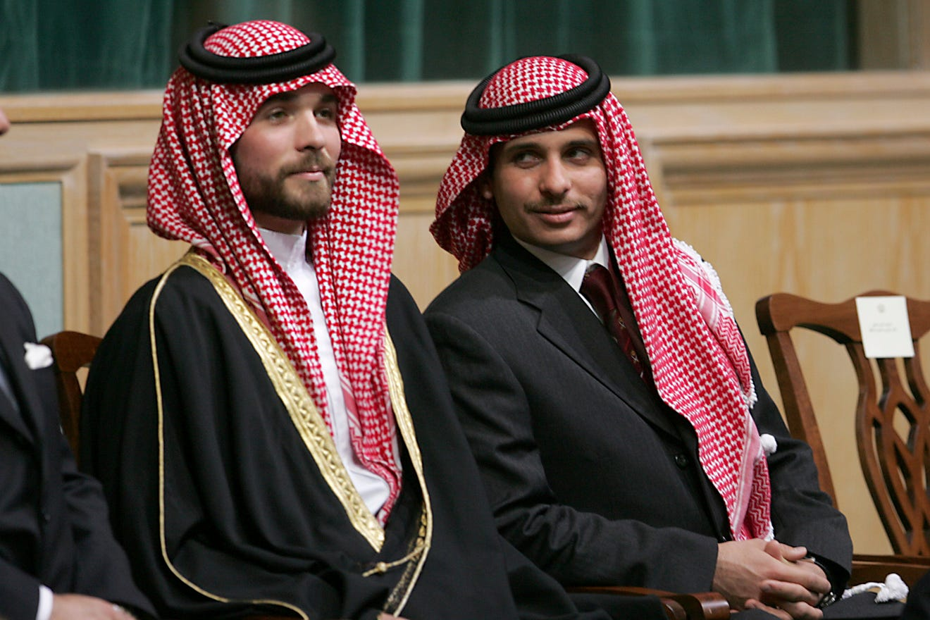 Prince Hamzah of Jordan on right