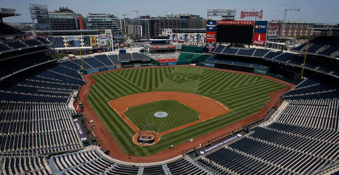 Nationals Park earlier this month, awaiting its first game of the 2021 season.