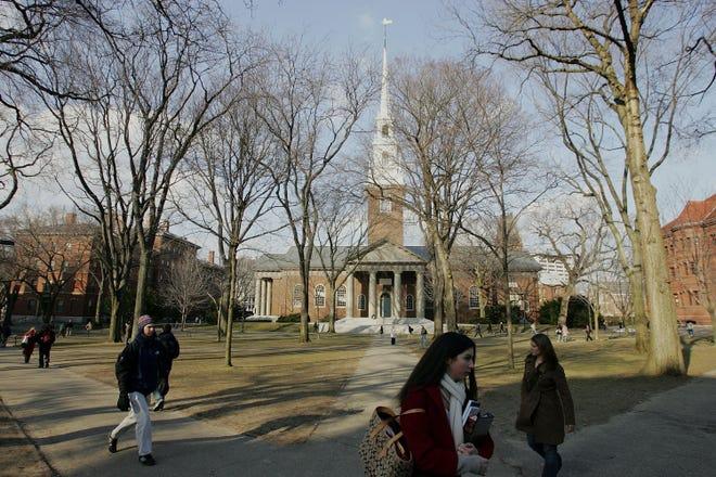 Harvard University in Cambridge, Massachusetts, on Feb. 21, 2006.