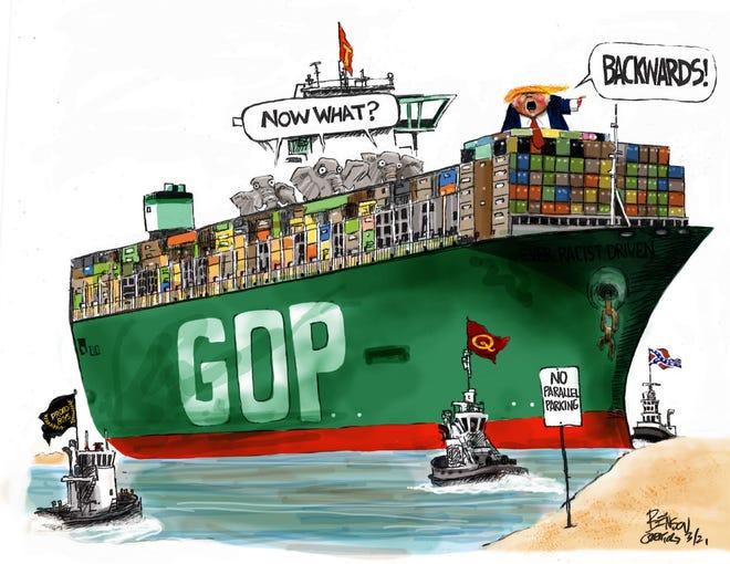 Cartoon by Steve Benson