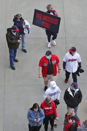 Fans return to Progressive Field on Monday for the Cleveland baseball home opener.