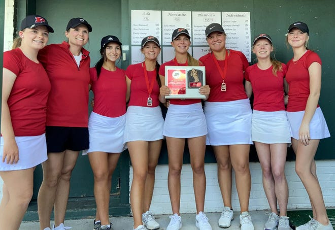 The Plainview High School girls golf team shot 338 on Monday to take first place at Dornick Hills. Lady Indians senior Reagan Chaney led the way with a 72 for first, while Lindyn Ross notched a 78 for second.