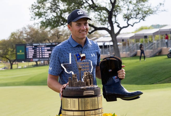Jordan Spieth, who won the Valero Texas Open last week, is in the anchor group for the first round of the 2021 Masters on Thursday, with Cameron Smith and Collin Morikawa.