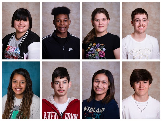 Brownwood High School named its Students of the Month for March. Top, from left: Bree Suarez, Octavious Jones, Hannah Lee, Chase Churchwell. Bottom, from left: Ibis Alvarado, Ernesto Arredondo, Marisol Rodriguez, Logan McKibben.