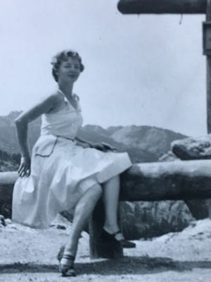 """Leola """"Lee"""" Mae Havemeier Ross worked in transcription during World War II at a naval base in Washington, after marrying her husband Donald."""